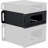 "FCI104/B - Flightcase 19"" rack insert 4 HE - Black version"