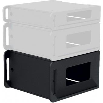 "FCI106/B - Flightcase 19"" rack insert 6 HE - Black version"