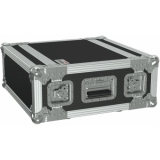 "FCX104MK2/B - 19"" flightcase - 4HE - 360mm depth - 19"" mounting profile on front & rear - Black version"