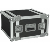 "FCX106MK2/B - 19"" flightcase - 6HE - 360mm depth - 19"" mounting profile on front & rear - Black version"