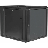 "HPR512/B - Double section 19"" wall mountable rack - 12 units - 550mm depth - Black"