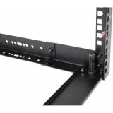 """OPR309A/B - 19"""" in depth adjustable open-frame rack - 9 unit - 300 ~ 450mm - Black"""