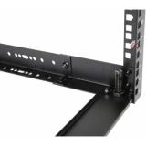 """OPR318A/B - 19"""" in depth adjustable open-frame rack - 18 unit - 300 ~ 450mm - Black"""