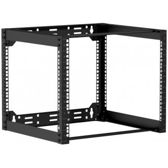 "OPR409/B - Wall mounted 19"" open frame rack - 9 unit - 450mm  - Black"
