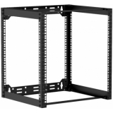 "OPR412/B - Wall mounted 19"" open frame rack - 12 unit - 450mm  - Black"