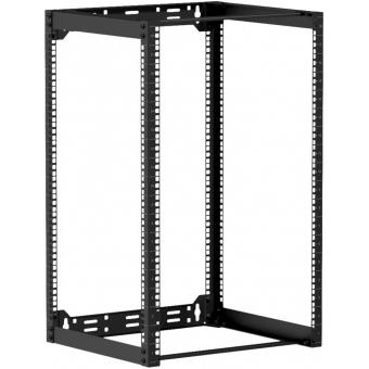 "OPR418/B - Wall mounted 19"" open frame rack - 18 unit - 450mm - Black"