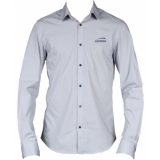 PROMO4122 - CAYMON promotion shirt grey with embroidered logo - Medium