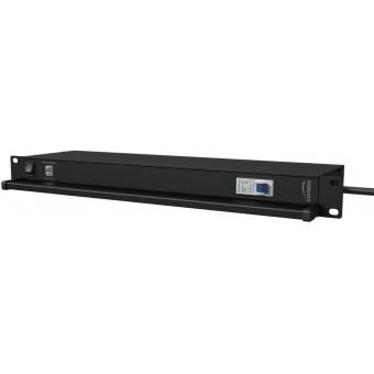"PSR419F/B - 19"" power distribution - 9x French sockets - light/usb/fuse - Black"