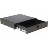 "RD212/B - 19"" rack drawer - 2 unit - Black"