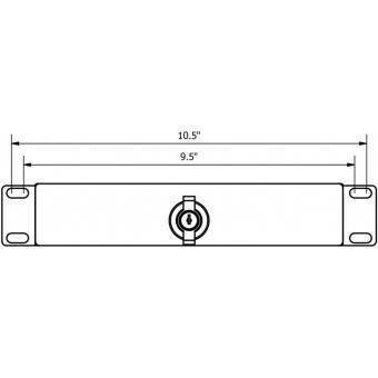 "RDN110L/B - 9.5"" & 10.5"" rack drawer - 1 unit with key lock - Black Steel"
