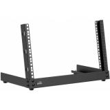 TPR306/B - Desktop open frame rack - 6 units - Black