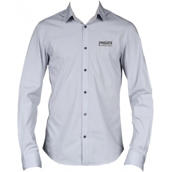 PROMO6123 - PROCAB promotion shirt grey with embroidered logo - LARGE