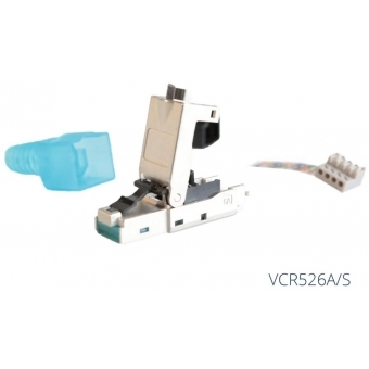 VCR526A/S - CAT6A toolless RJ45 modular plug - Shielded