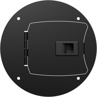 CRP280 - Center connection plate with latchable door