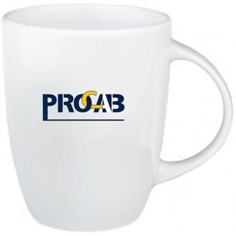 PROMO6502 - White-colored mug with 2-tone PROCAB logo