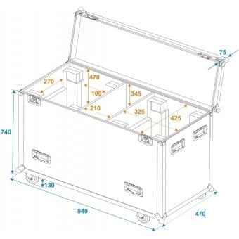 ROADINGER Flightcase 2x DMH-300 LED #7