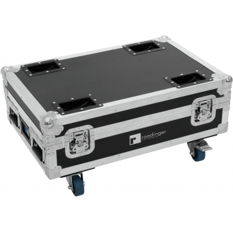 ROADINGER Flightcase 4x AKKU BAR-6 Glow QCL Flex QuickDMX with c #1