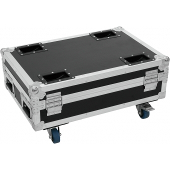 ROADINGER Flightcase 4x AKKU BAR-6 Glow QCL Flex QuickDMX with c #2
