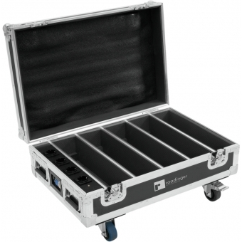 ROADINGER Flightcase 4x AKKU BAR-6 Glow QCL Flex QuickDMX with c #3