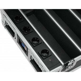 ROADINGER Flightcase 4x AKKU BAR-6 Glow QCL Flex QuickDMX with c #4