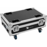 ROADINGER Flightcase 4x AKKU BAR-6 Glow QCL Flex QuickDMX with c