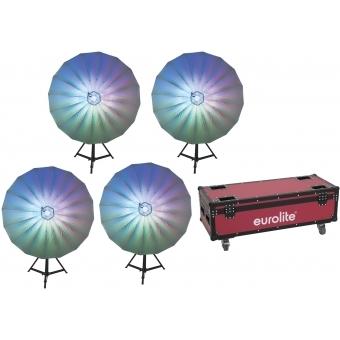 EUROLITE Set 4x LED Umbrella 140 + Case