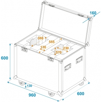 ROADINGER Flightcase 2x DMH-200 LED #6