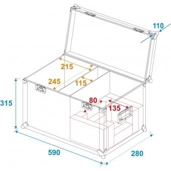 ROADINGER Flightcase 2x LED TSL-150 #6