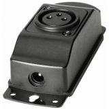 Adam Hall Stands SLED 1 B XLR 3 Surface Mount 3-pin XLR Gooseneck Light Base with Power Adapter