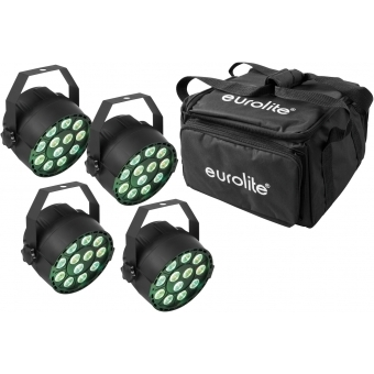 EUROLITE Set 4x LED PARty TCL Spot + Soft-Bag