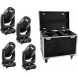 EUROLITE Set 4x DMH-200 LED Moving-Head + Case