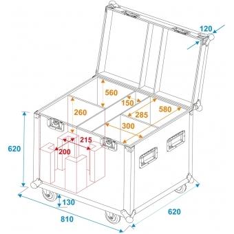ROADINGER Flightcase 4x LED PFE-250 #5
