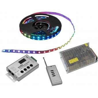 EUROLITE Set LED Pixel Strip RGB 5m + Controller + Transformer 5