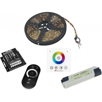EUROLITE Set LED Strip RGB 5m + RF Controller + Wandpanel + Traf