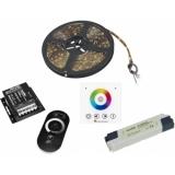 EUROLITE Set LED Strip RGB 5m + RF Controller + Wandpanel + Traf
