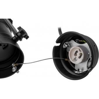 EUROLITE Set PAR-16 Spot GU-10 black + GU-10 230V LED SMD 7W 640 #5