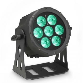 Cameo FLAT PRO 7 7 x 10 W FLAT LED RGBWA PAR light in black housing