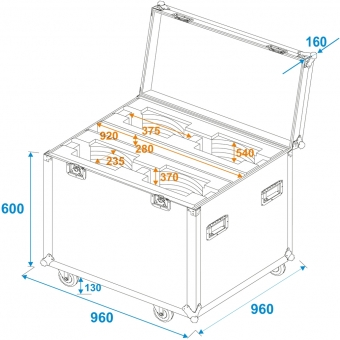 ROADINGER Flightcase 4x DMH-200 LED #6