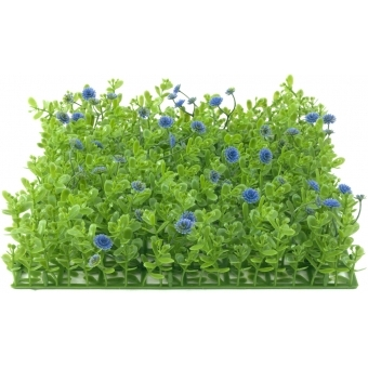 EUROPALMS Grass mat, artificial, green-purple, 25x25cm