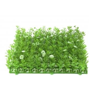 EUROPALMS Grass mat, artificial, green-white, 25x25cm