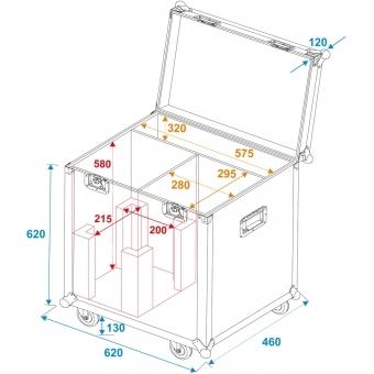 ROADINGER Flightcase 2x LED PFE-250 #5