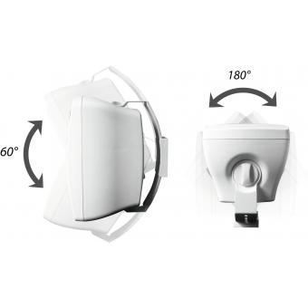 OMNITRONIC OD-8T Wall Speaker 100V white 2x #3