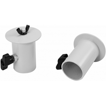 OMNITRONIC BOB-4 Stand Adaptor white 2x