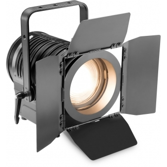 Cameo TS 200 WW Theatre Spotlight with Fresnel Lens and 180 Watt Warm White LED in Black Housing