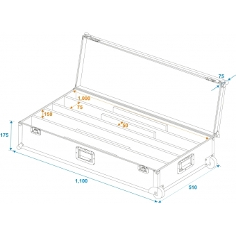 ROADINGER Flightcase 4x LED STP-7 #6