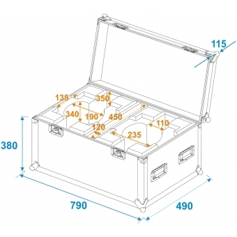 ROADINGER Flightcase 2x LED TMH-X7 Moving head #5