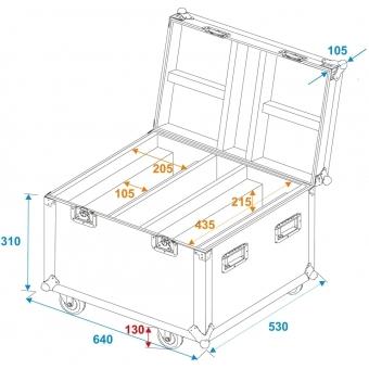 ROADINGER Flightcase 2x LED TMH-X Bar 5 #5