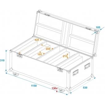 ROADINGER Flightcase 4x LED TMH-X Bar 5 #5