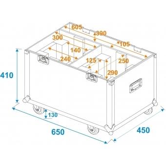 ROADINGER Flightcase 2x LED TMH-75 #4