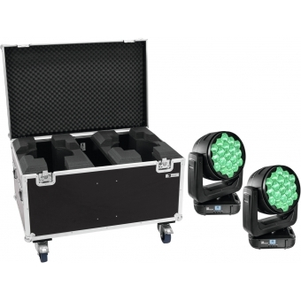 EUROLITE Set 2x LED TMH-X19 + Case